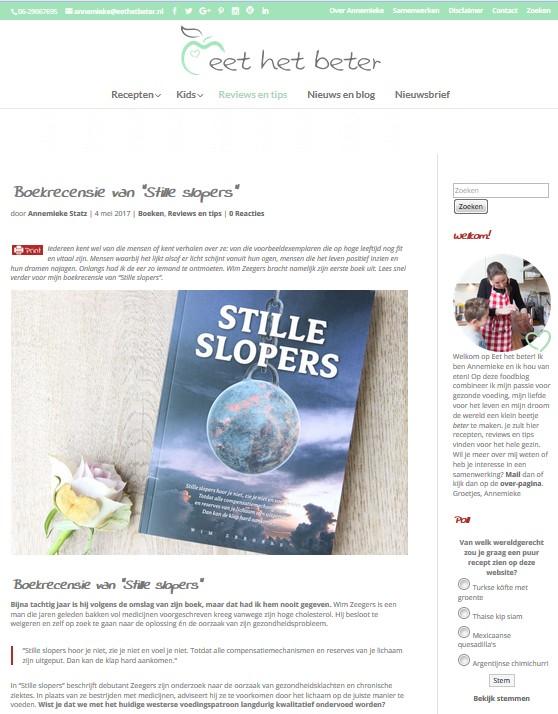 Screenshot Eet het beter website